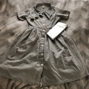 Shabby Apple Dresses & Skirts - Shabby Apple Gray Button Up 30s Style Nazca Dress
