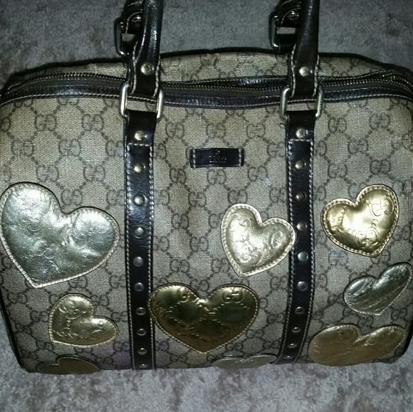 251e76112 Gucci Bags | Authentic Joy Medium Boston Bag W Hearts | Poshmark