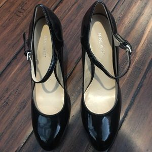 Nine West Shoes - Nine West Black Patent Leather Mary Jane Pumps 7.5