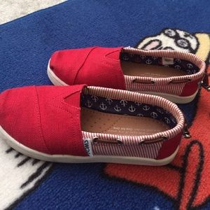 Toms red  shoes size 13 for kids brand new