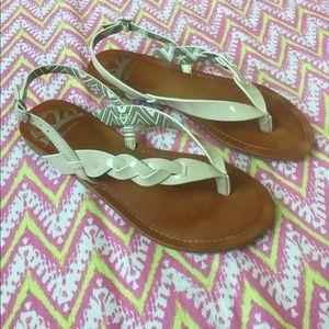 Fergie Shoes - ☀️Fergalicious Nude Braided Sandal