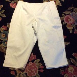 Valerie Stevens Pants - Classic white stretch slacks or capris