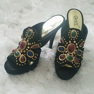 Carlos Santana Shoes - Carlos by Carlos Santana Jeweled Mules