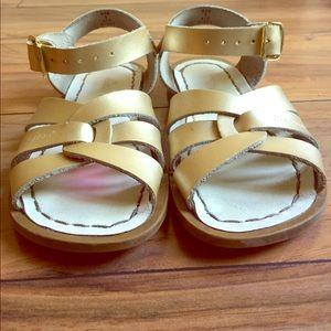 Salt Water Sandals by Hoy Other - Gold Salt Water sandals kids