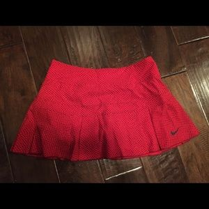 NIKE red tennis skirt