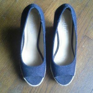 Charming Charlie Shoes - Denim wedges