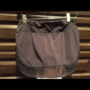 Lulu lemon black tennis skirt