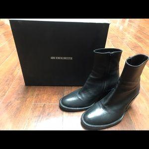 Ann Demeulemeester Shoes - Ann Dememeulemeester Ankle Zip Boots, Black, 37.5
