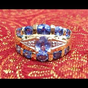 Jewelry - Vintage 14K Tanzanite And Diamond Ring NWOT