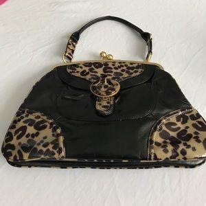 Hype Handbags - Leopard trim Hype bag