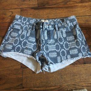 Roxy patterned Jean shorts