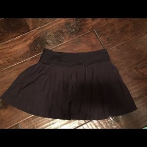 Lulu lemon black ruffle tennis skirt