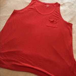 Old Navy Tops - adorable orange old navy bf tank top size XXL