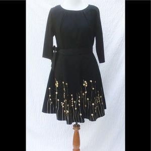 eshakti Dresses & Skirts - New Eshakti Black Fit & Flare Floral Dress 18W