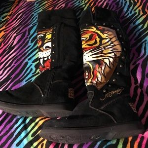 Ed Hardy tiger boots🐯