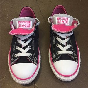 Converse Shoes - Converse Black/Pink Double Tongue