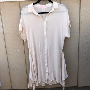 Linda Farrow Dresses & Skirts - FARROW SZ M CREAM COLORED DRESS CUTE