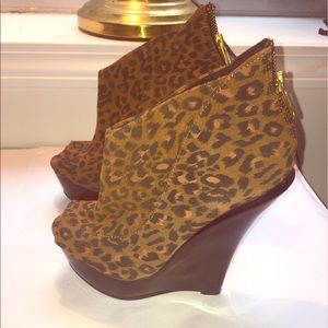 ASOS Shoes - Animal Print Wedge Shoes