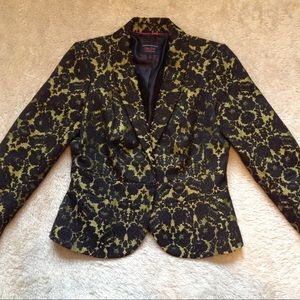 L'Wren Scott at Banana Republic Jackets & Blazers - Yellow green and lace blazer