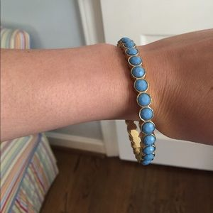 Lilly Pulitzer Blue and Gold Bangle Bracelet