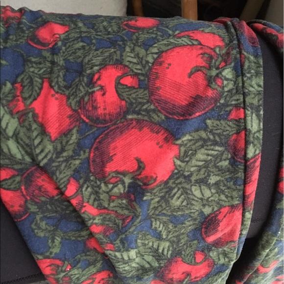 Lularoe Pants Leggings Tomato Print Poshmark