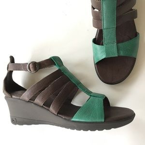 Keen Shoes - NEW KEEN green brown comfort wedge summer sandals