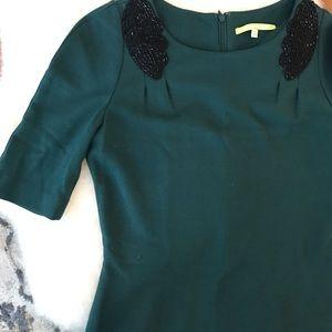 Forest green mini dress