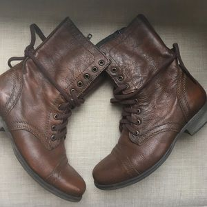 Steve Madden Brown Troopa Boots