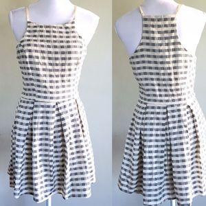 ANGL Dresses & Skirts - ANGL Blue White Checker Gingham Print Dress Medium