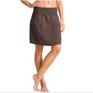 Athleta Dresses & Skirts - Athleta linen skirt with foldover waist