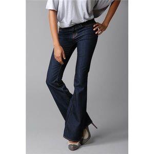 J Brand Flare Leg Mid Rise Dark Wash Jeans