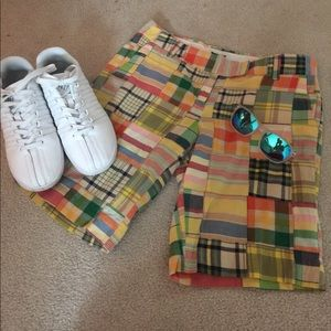 J. Crew city fit plaid shorts