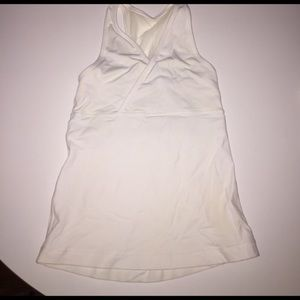 White lululemon workout top