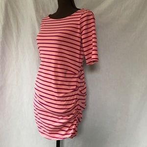 A Pea in the Pod Dresses & Skirts - A Pea in the Pod Coral/Magenta Striped Dress