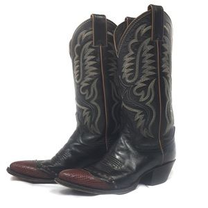 Justin Boots Shoes - Justin Women Western Leather Cowboy Boots Size 6