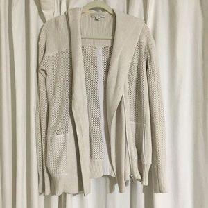 White + Warren Sweaters - Like NEW White + Warren Hooded Cotton Sweater! SzS