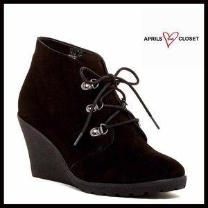 SUSINA Shoes - ❗️1-HOUR SALE❗️SUEDE WEDGE PLATFORM ANKLE BOOTS