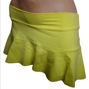BECCA Other - Becca Swimsuit cover up skirt yellow short ruffle