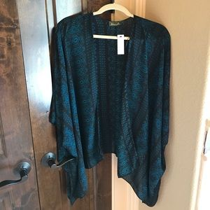 Maude Sweaters - Blue & black poncho
