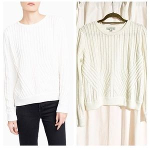 White + Warren Sweaters - Like NEW White + Warren Hand Stitch Sweater! Sz M