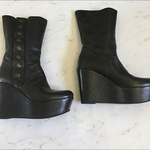 Kooba Shoes - KOOBA LEATHER PLATFORM BOOTIES