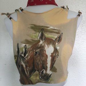 Vintage Tops - VTG horse crop