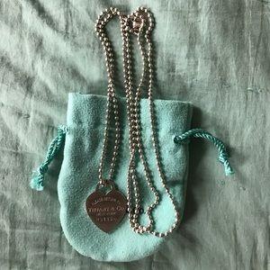 Tiffany & Co. Jewelry - Long Return to Tiffany heart tag necklace