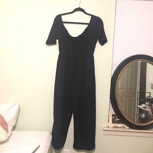 ASOS Curve Pants - Black off the shoulder jumpsuit ASOS