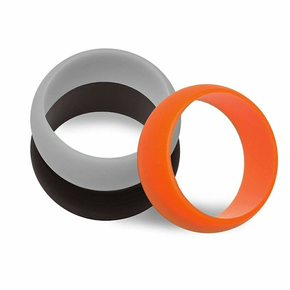 Other - Brand New Set of 3 Mens Silicon Wedding Bands