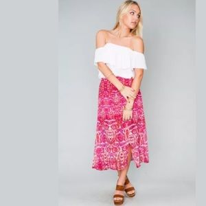 Show Me Your MuMu Dresses & Skirts - Show Me Your Mumu Flirt Skirt Floral Midi Small