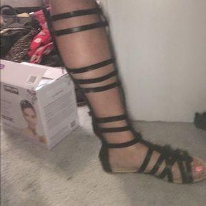 Alba Shoes - Black gladiator sandals, never worn. Size 8