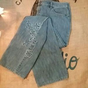Sigrid Olsen Denim - Sigrid Olsen Sz 14 (34/32 )Boho Embroidered Jeans!