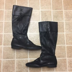 Enzo Angiolini Shoes - Size 8M Tall Black Leather Enzo Angiolini Boots