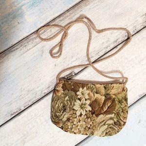 Vintage Floral Tapestry Boho Purse